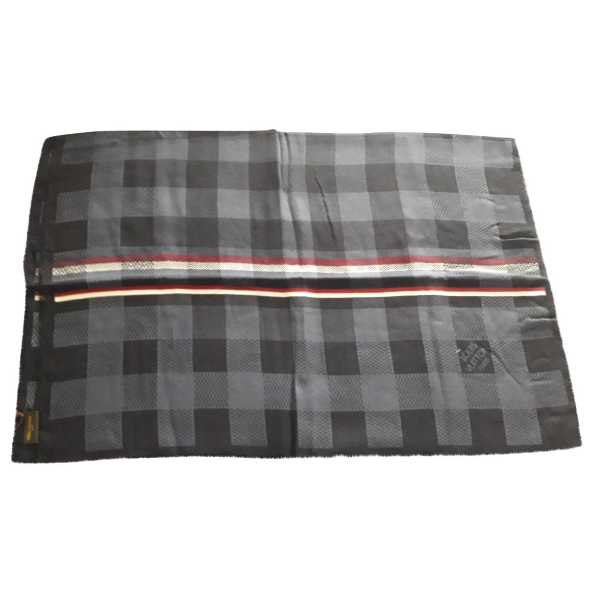 Louis Vuitton \N Navy Wool scarf & pocket squares for Men \N