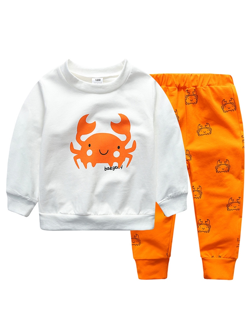 Ericdress Crab Cartoon Print Baby Boys' Outfit