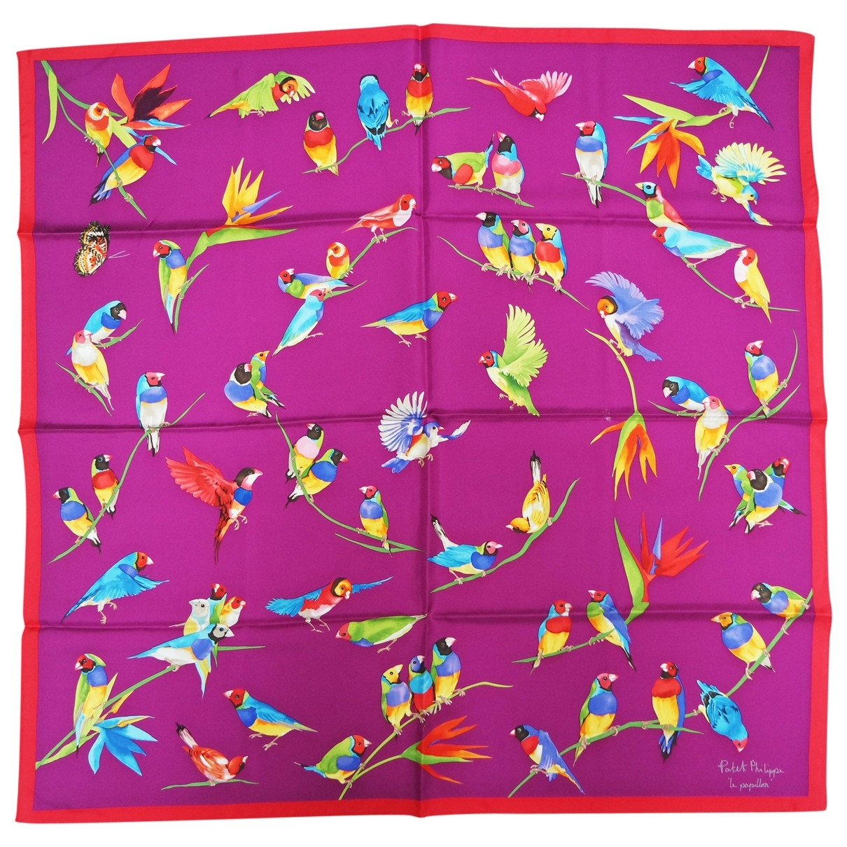 Patek Philippe \N Purple Silk scarf for Women \N