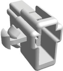 TE Connectivity FASTON .250 Series, 2 Way Nylon Crimp Cover, Natural (50)