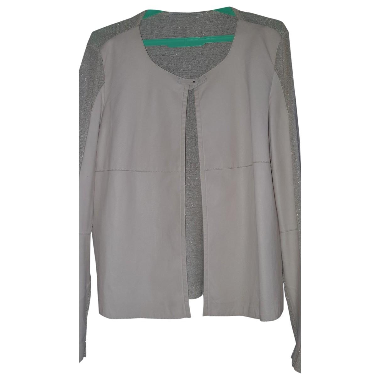 Fabiana Filippi \N Gold Leather Knitwear for Women 40 FR