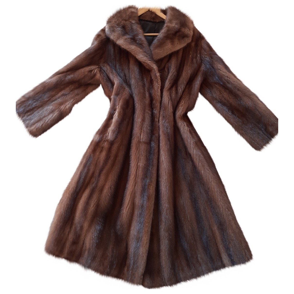Non Signé / Unsigned \N Brown Mink coat for Women 42 FR