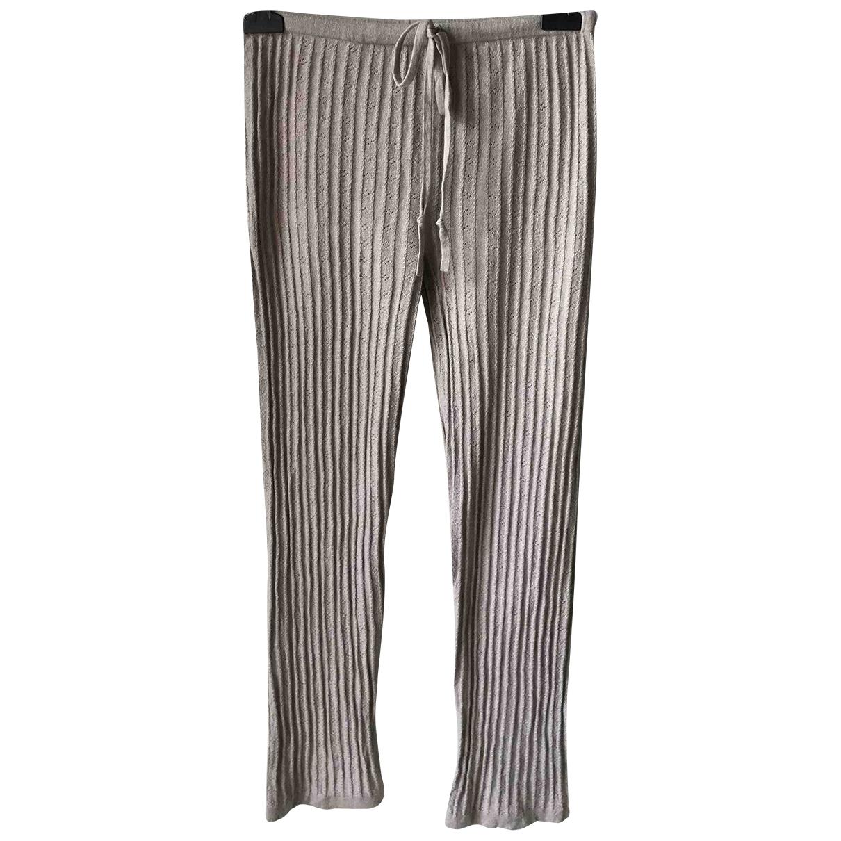 Eric Bompard \N Beige Cashmere Trousers for Women M International