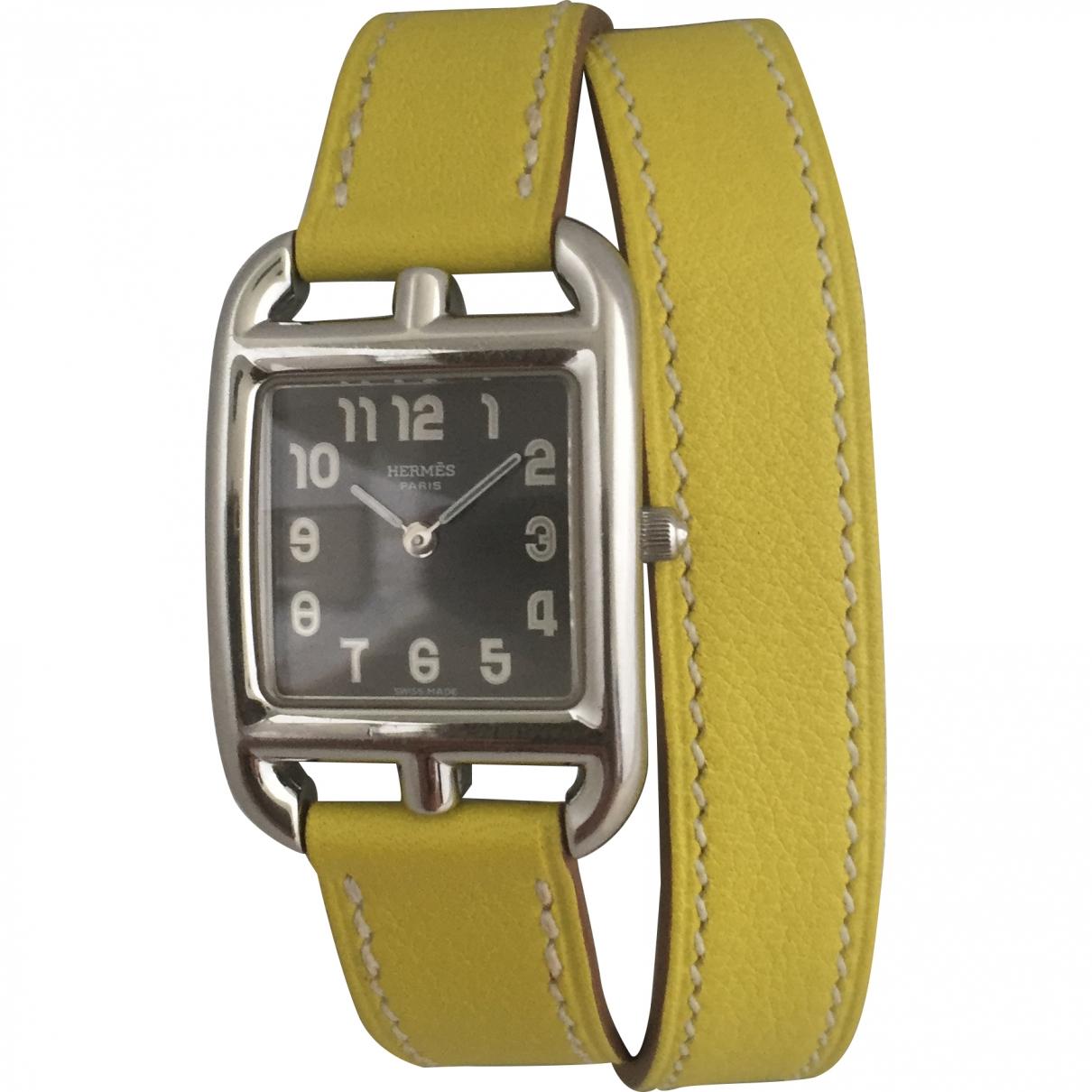 Hermès Cape Cod Black Steel watch for Women \N