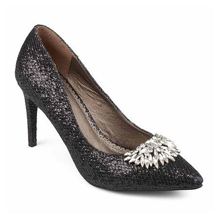 Journee Collection Womens Albie Pumps Stiletto Heel, 7 1/2 Medium, Black