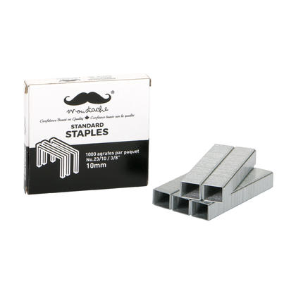 Staples, 1000 count/box - Moustache® - 1/Pack, No. 23/10, 10mm