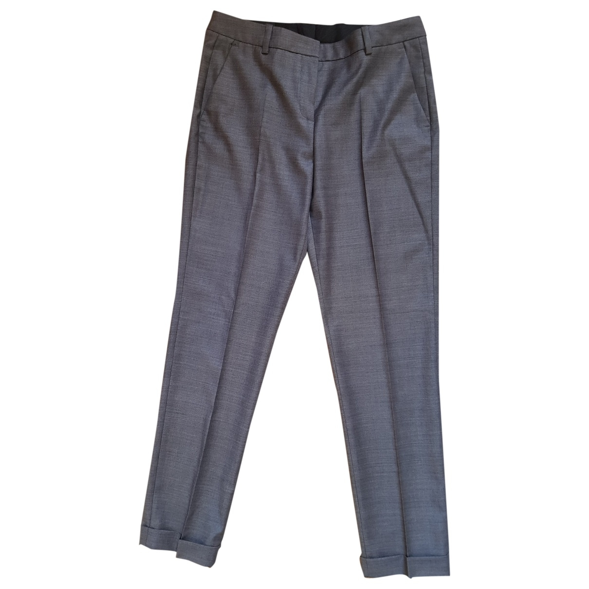 The Kooples Spring Summer 2019 Grey Wool Trousers for Women 36 FR