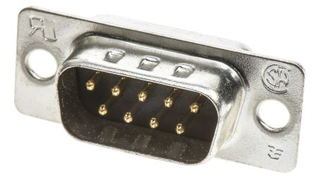 TE Connectivity , AMPLIMITE HD-20 Panel Mount, 9 Pin D-sub Connector Plug, Shell Size E (5)