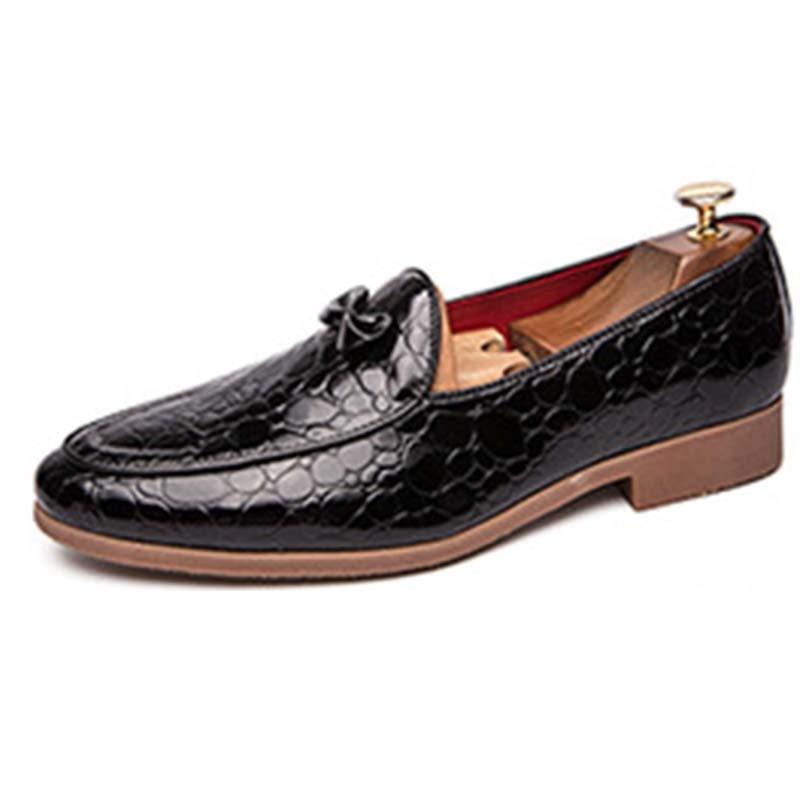 Ericdress Bowknot Slip-On Color Block Men's Dress Shoes