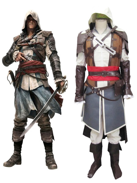 Milanoo Inspired By Assassin's Creed Black Flag Edward Kenway Pirate Uniform Cosplay Costume