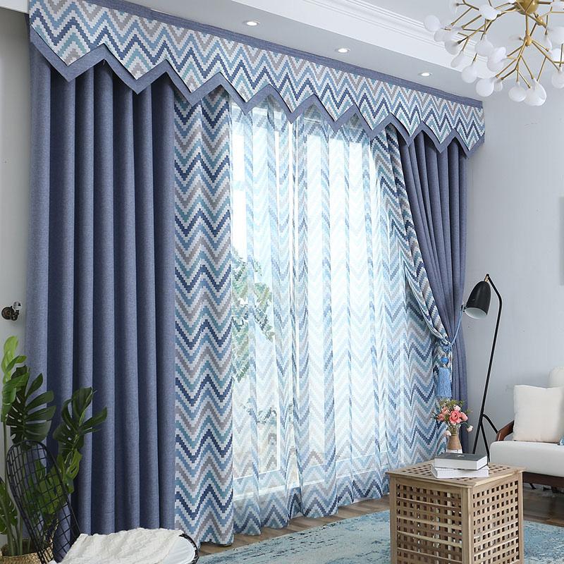 Pastoral Decoration Drapes 2 Panels Curtain Four Colors for Chioce