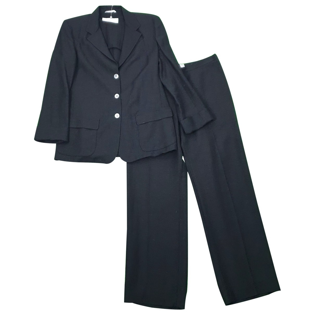 Max Mara \N Black Linen jacket for Women 42 IT