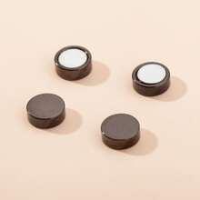 1pair Men Magnet Round Earrings