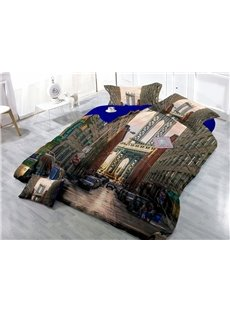 New York City Wear-resistant Breathable High Quality 60s Cotton 4-Piece 3D Bedding Sets