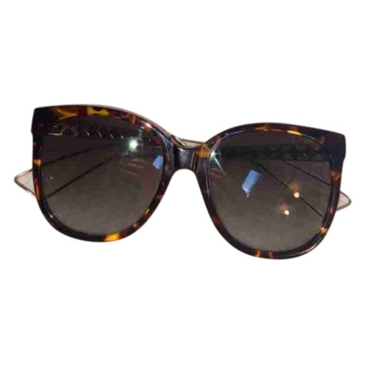 Dior \N Brown Metal Sunglasses for Women \N