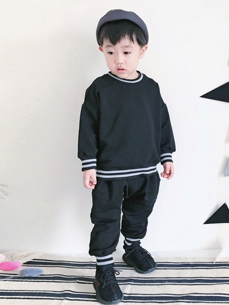 Ericdress Stripped Plain Pullover Baby Boy's Sports Casual Outfits