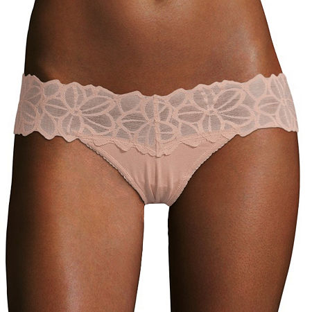 Flirtitude Lace Thong Panty, X-small , Brown