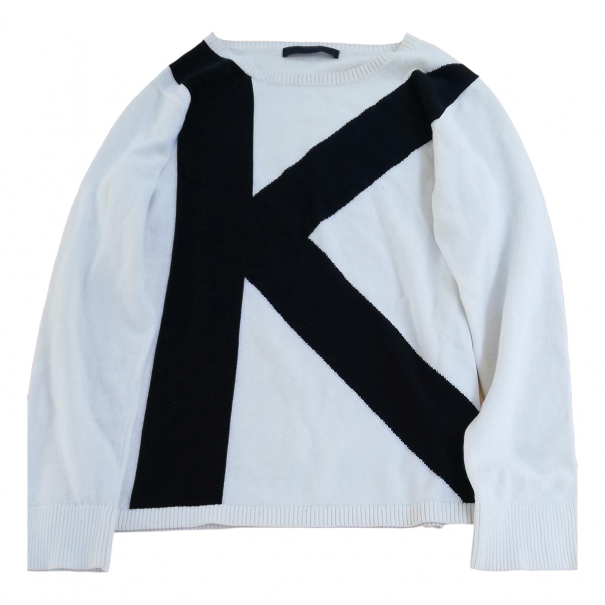 Karl Lagerfeld \N White Cotton Knitwear & Sweatshirts for Men S International