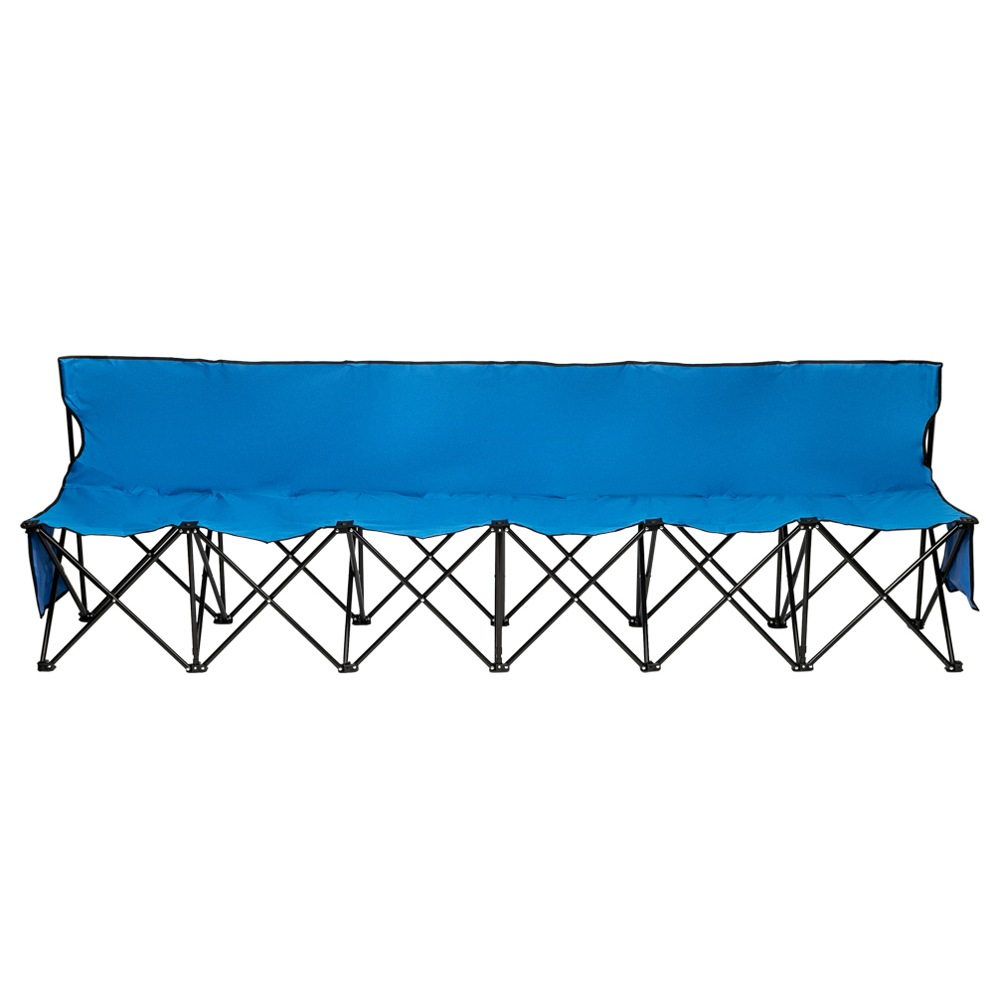 Outdoor Portable Folding Chair Six Seats 270 x 50 x 83cm Relax Leisure For Fishing / Camping - Blue