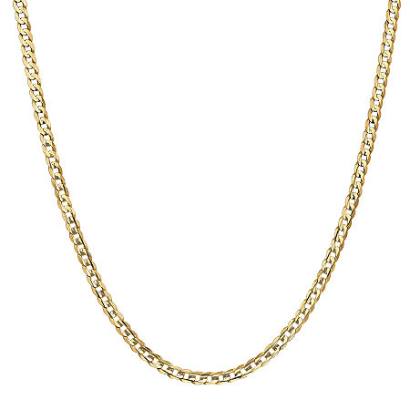 14K Gold 24 Inch Solid Curb Chain Necklace, One Size , No Color Family