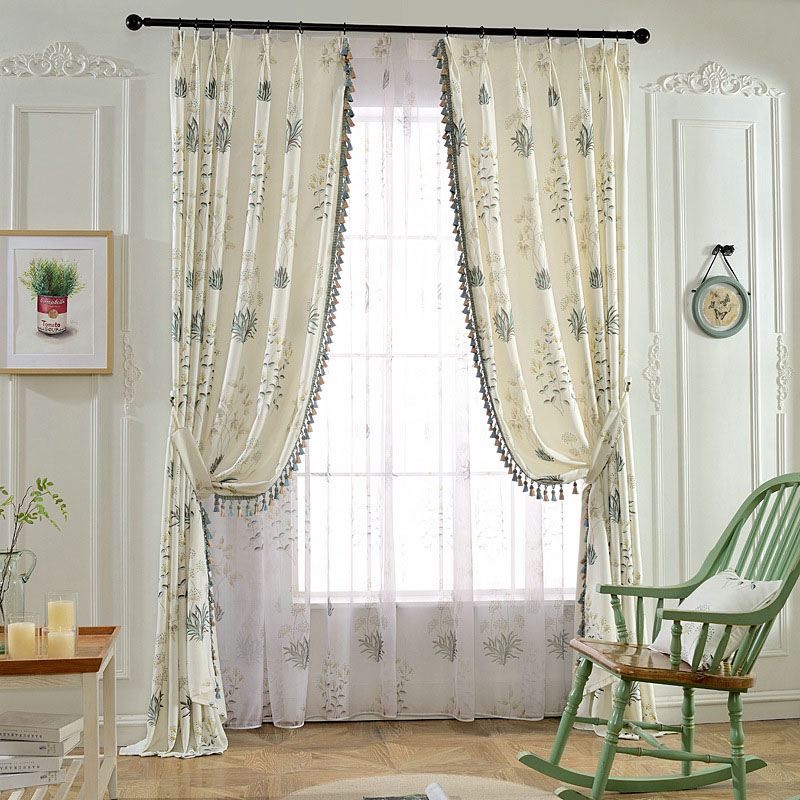 European Modern Living Room Breathable Sheer Curtains 84W 84L Inches Polyester 30% Shading Rate and UV Rays Environment-Friendly and Pollution-Free Ma
