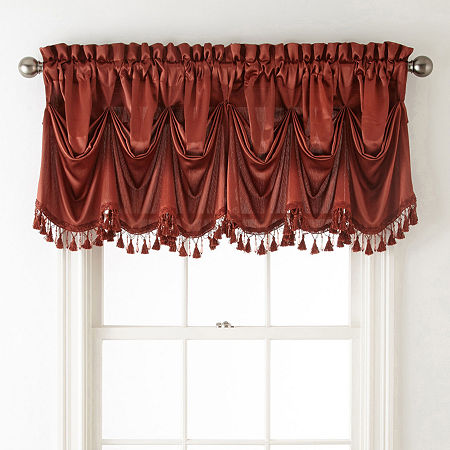 JCPenney Home Hilton Tuck Rod-Pocket Federal + Tuck Valance, One Size , Orange