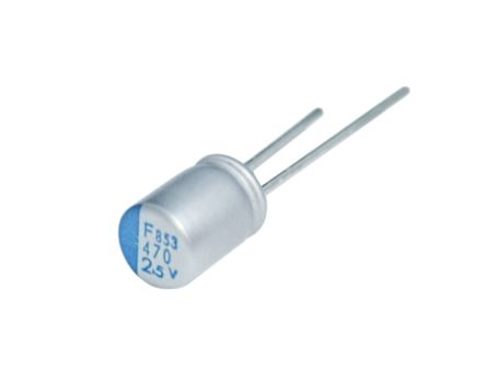 Nippon Chemi-Con 470μF Polymer Capacitor 16V dc, Through Hole - APSF160ELL471MJB5S (25)