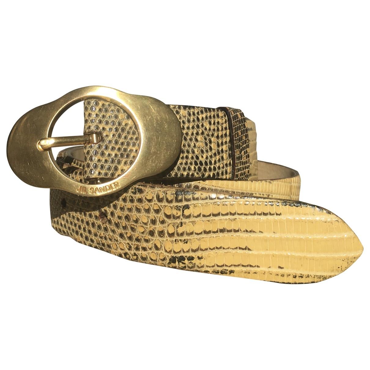 Jil Sander \N Camel Exotic leathers belt for Women 70 cm