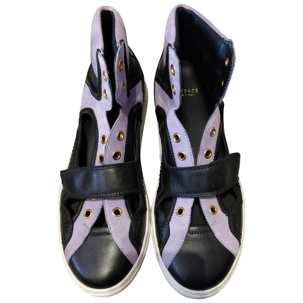 Versace \N Purple Leather Trainers for Women 37 EU