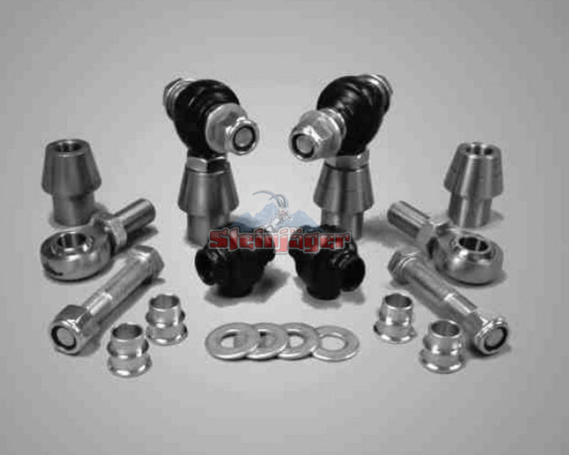 Steinjager J0005934 Rod Ends Set 0.75-16 for 1.250 OD x .120 Ball ID 2HSS-20120-12-12-TT-ZZ 0.75-16 x 0.75