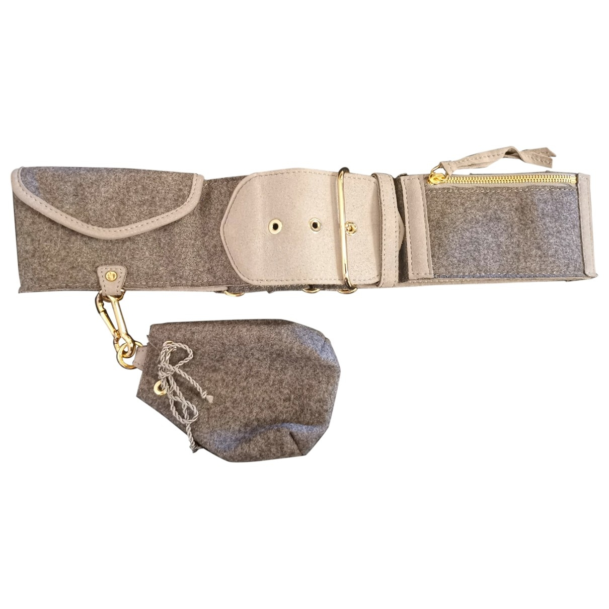 Stella Mccartney \N Grey Cloth belt for Women 90 cm
