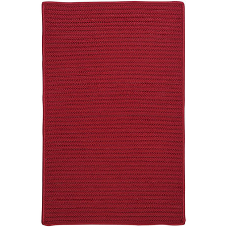 Colonial Mills Nantucket Reversible Braided Indoor/Outdoor Rectangular Rug, One Size , Red