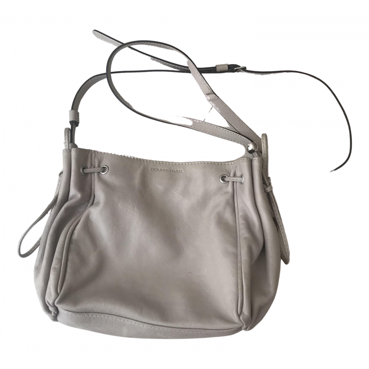 Gerard Darel 24h Grey Leather handbag for Women \N