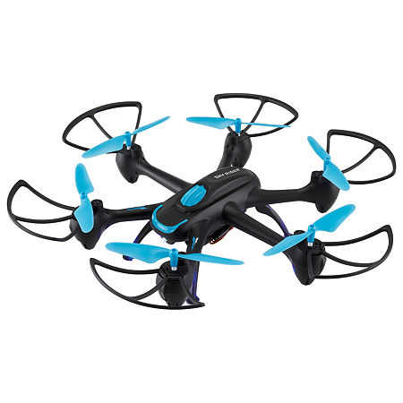 Sky Rider Night Hawk Hexacopter Drone with Wi-Fi Camera, One Size , Blue