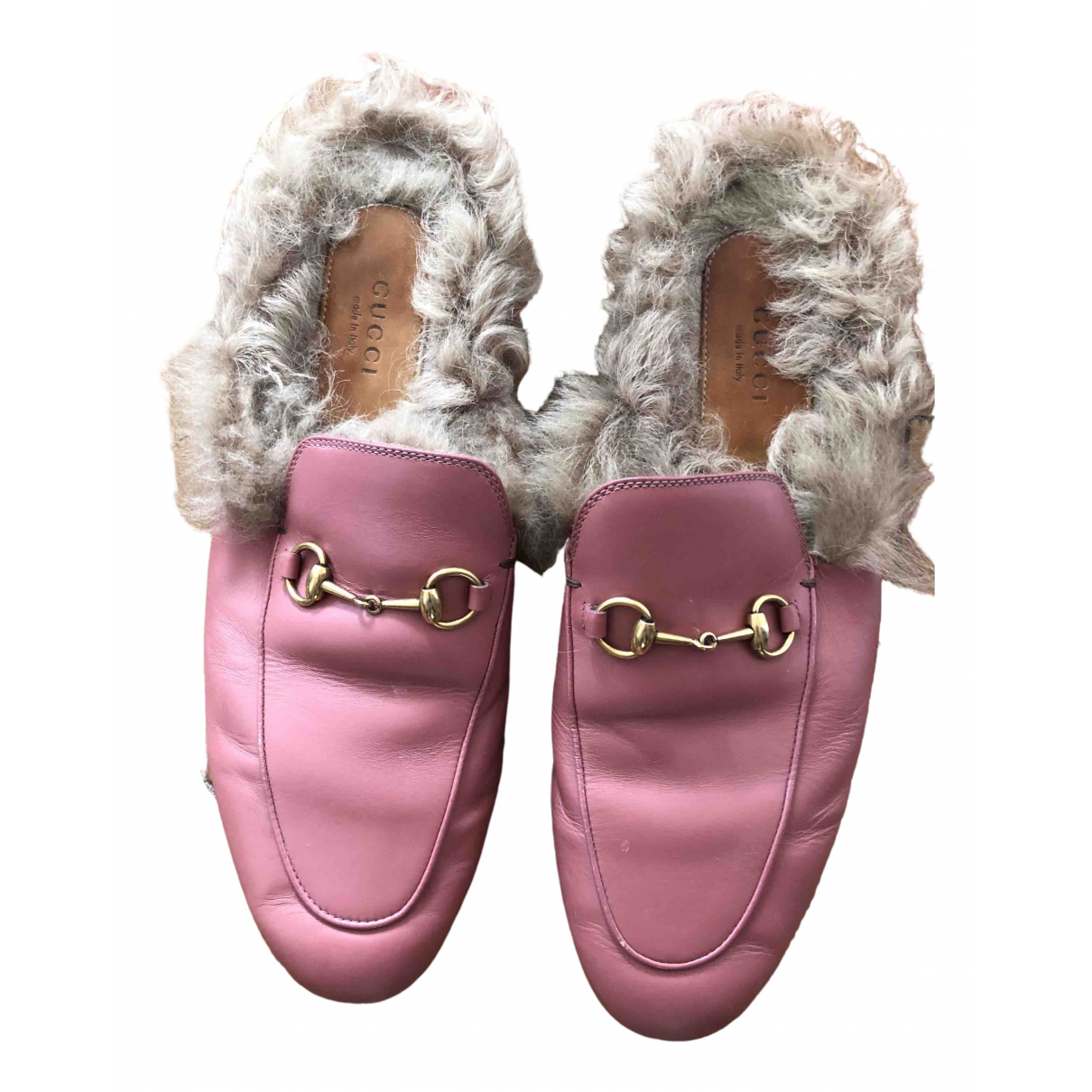 Gucci Princetown Pink Leather Flats for Women 41 EU