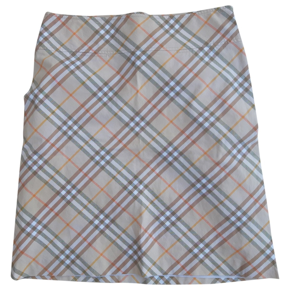 Burberry \N Beige Cotton skirt for Women 44 IT