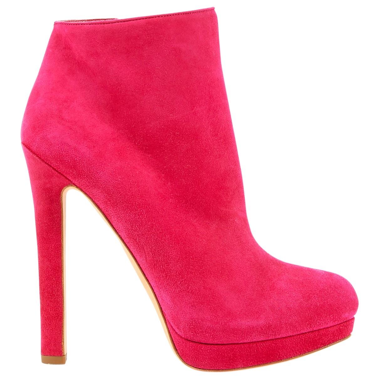 Alexander Mcqueen \N Pink Suede Heels for Women 38.5 EU