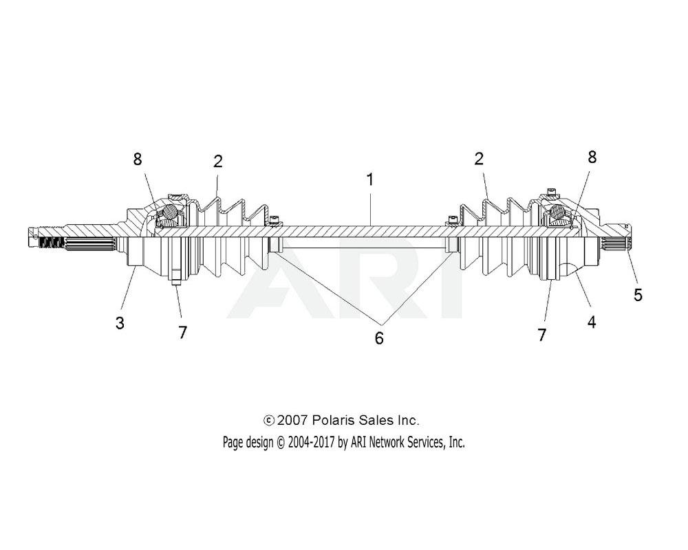Polaris OEM 7081350 Clip, Shaft, Internal