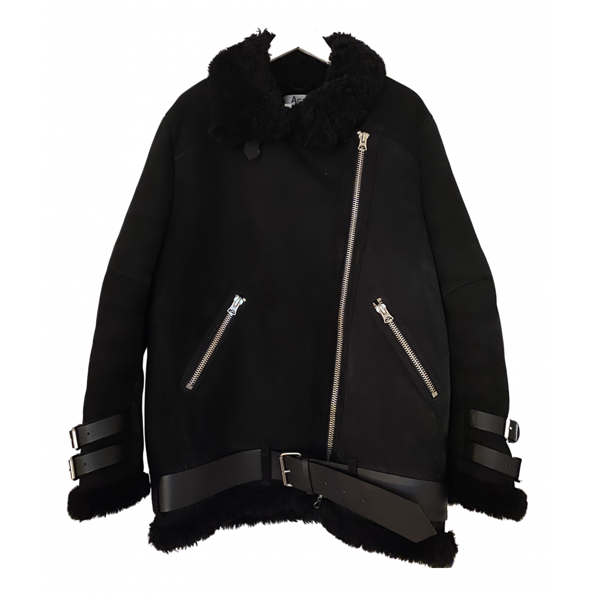 Acne Studios \N Black Suede coat for Women 42 FR