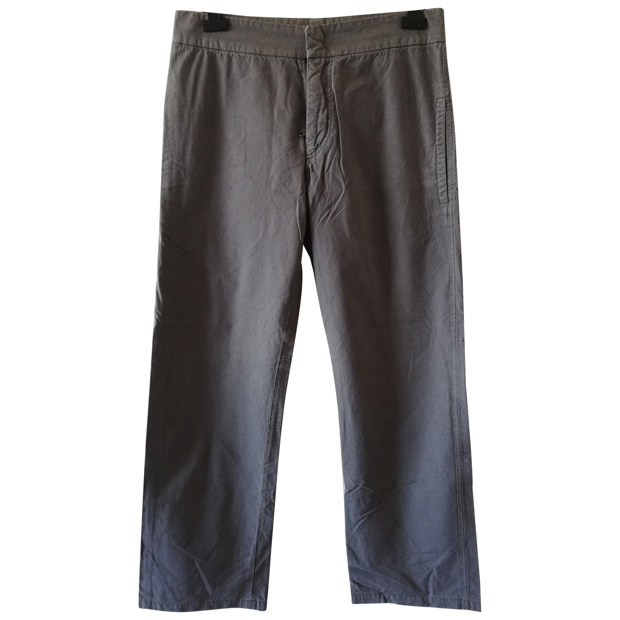 Costume National \N Grey Cotton Trousers for Men 50 IT
