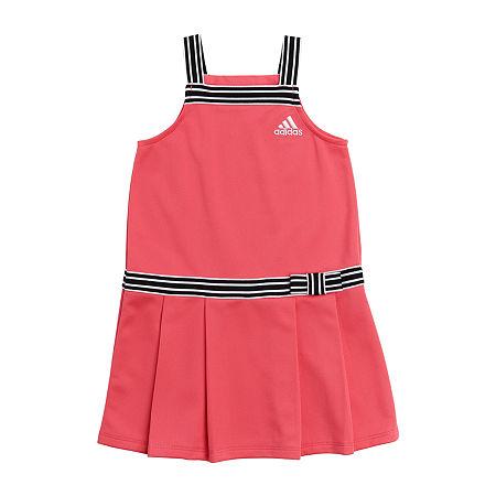 adidas Girls Tennis Dress, 6 , Pink
