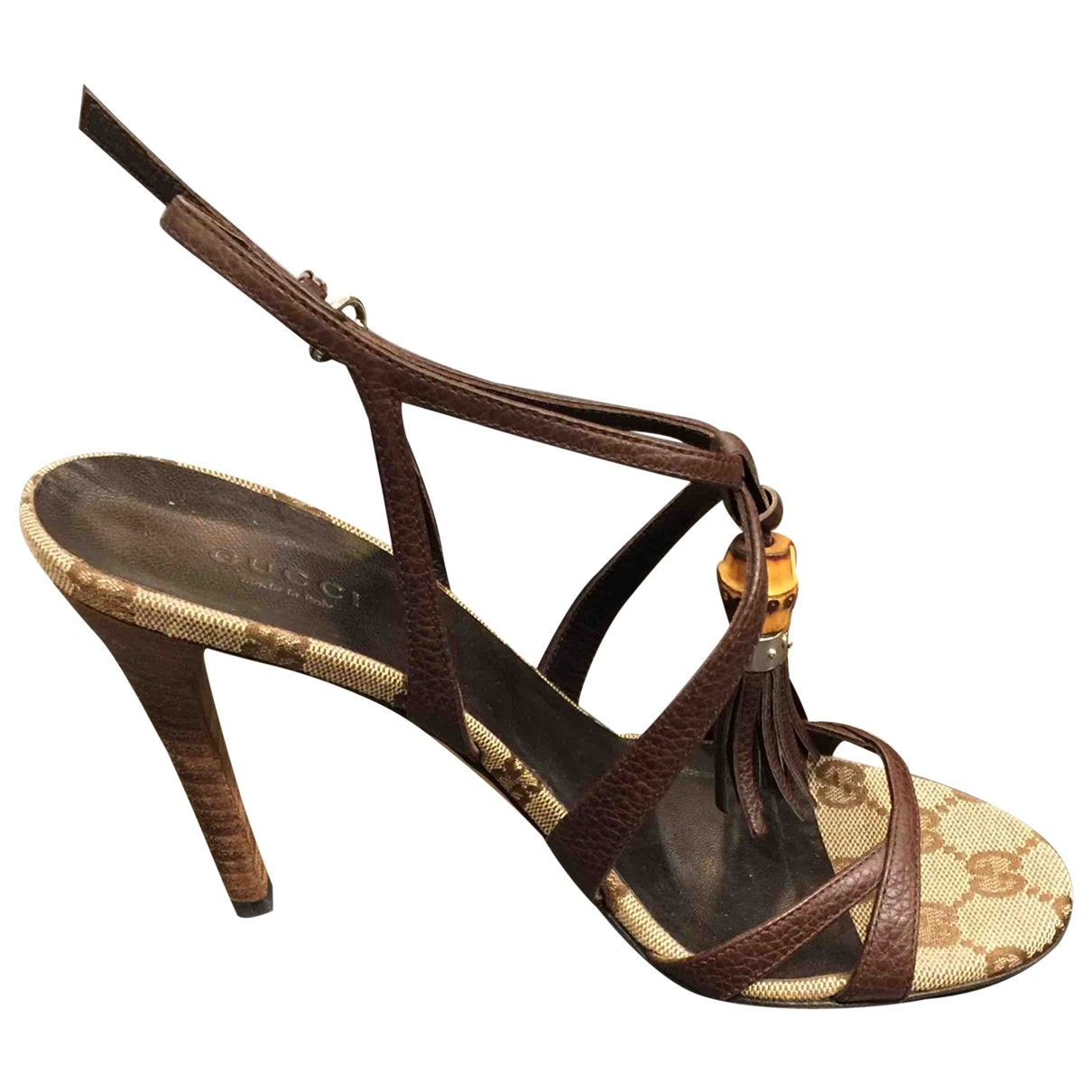 Gucci \N Brown Cloth Sandals for Women 37 IT