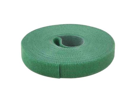 RS PRO Green Hook and Loop Tape, 5m x 16 mm