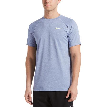 Nike Heather Hydroguard Short Sleeve Crew Neck Tee, X-large , Gray