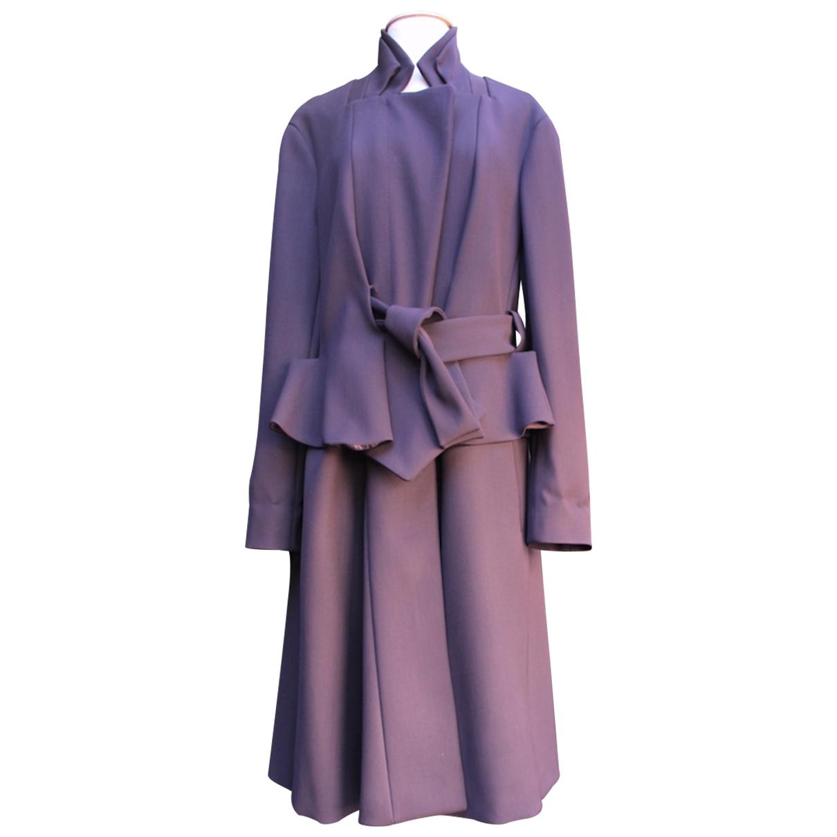 John Galliano \N Purple Cotton coat for Women 46 IT