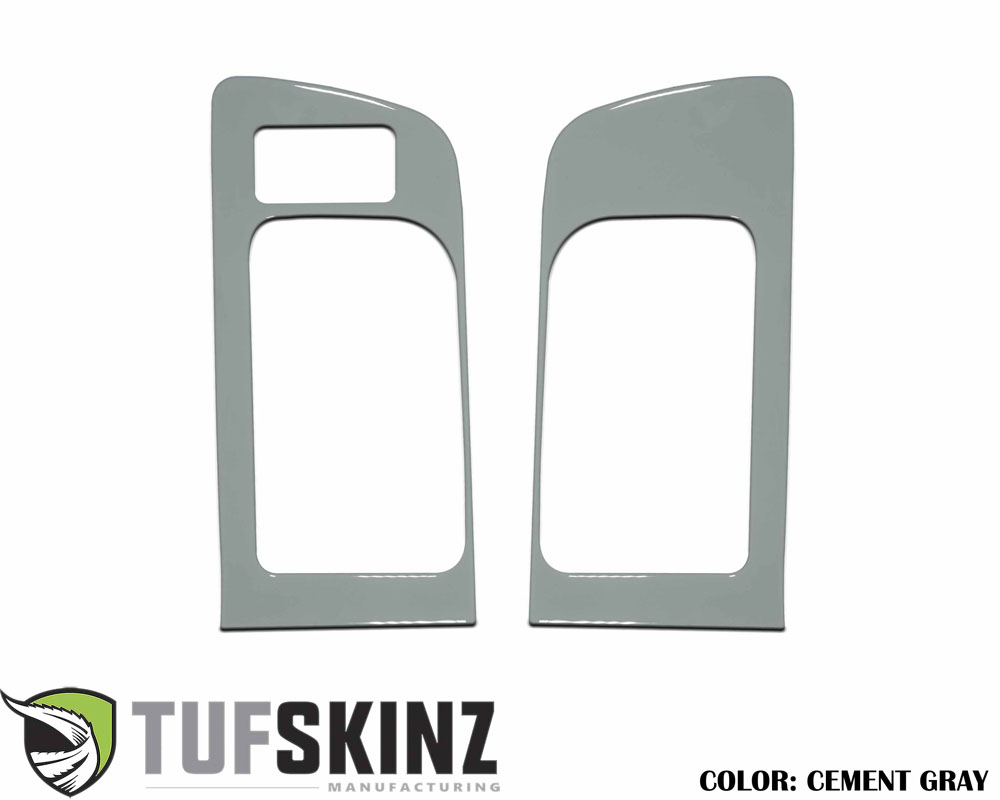 Tufskinz TUN036-GGY-G Front Door Handle Accent Trim with Memory Seat Button Fits 14-up Toyota Tundra 2 Piece Kit Cement Gray
