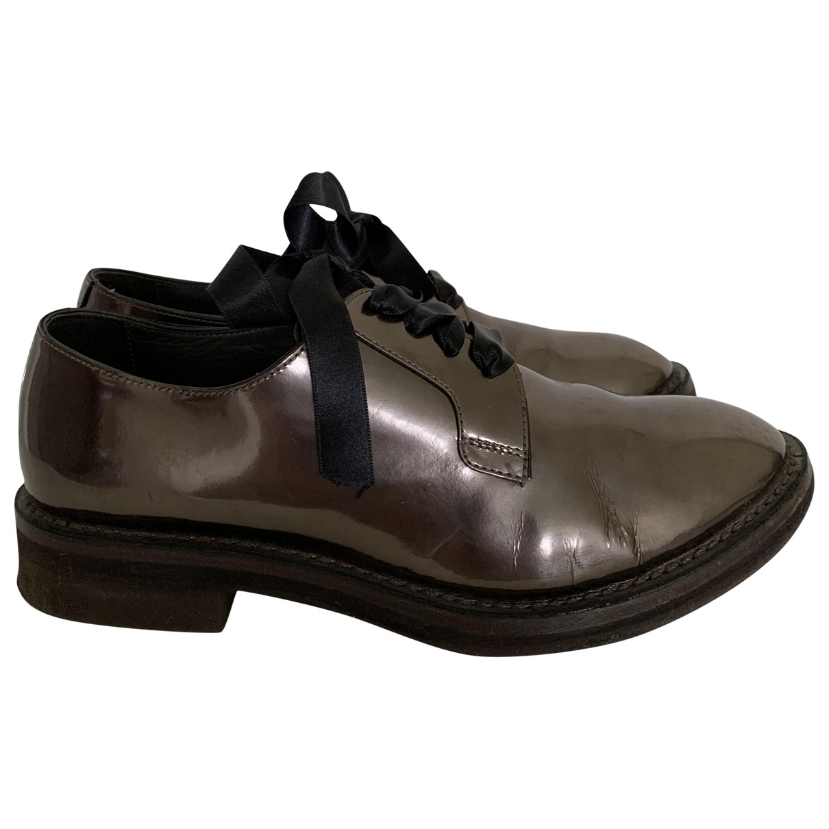 Brunello Cucinelli \N Metallic Leather Lace ups for Women 38 IT