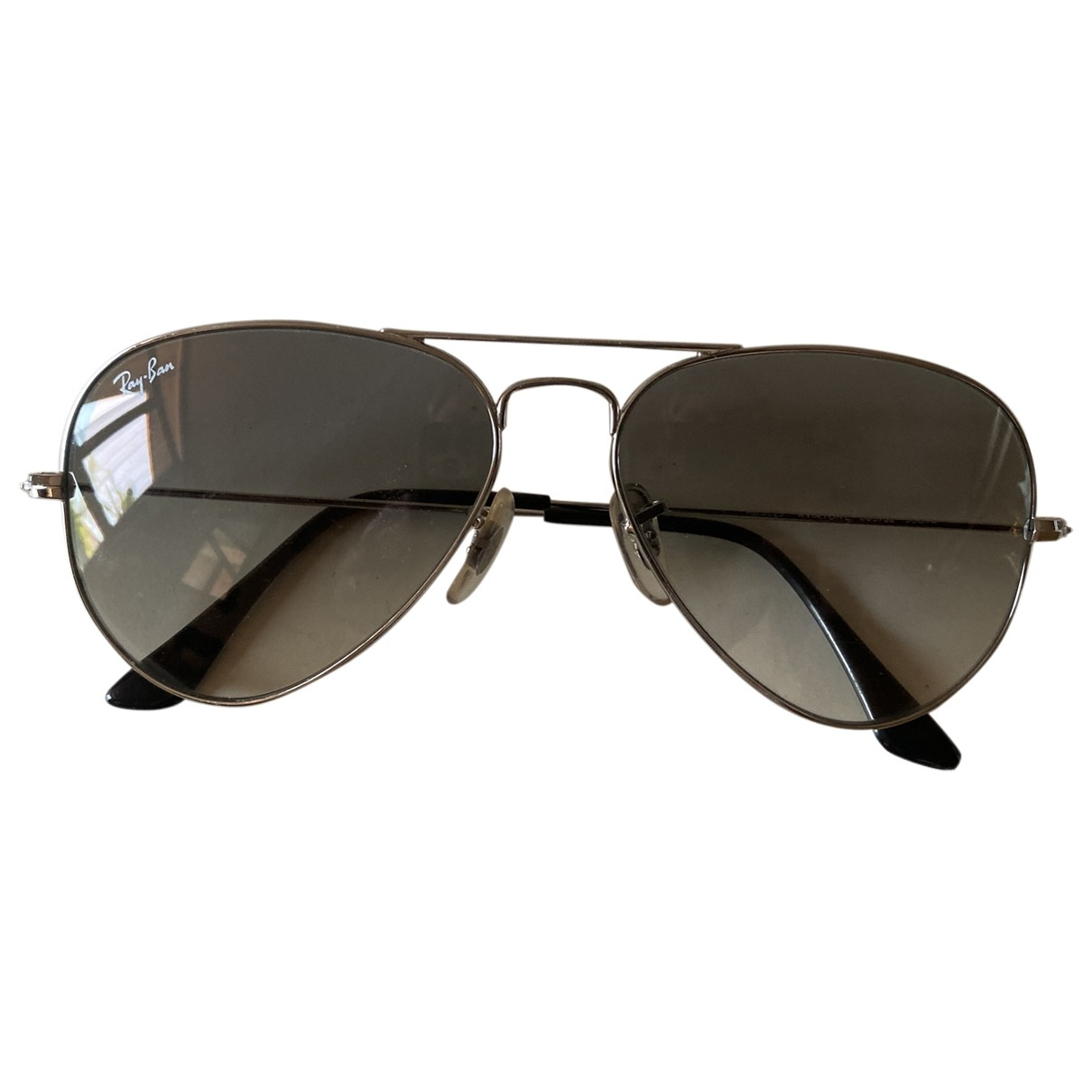 Ray-ban Aviator Grey Metal Sunglasses for Women \N