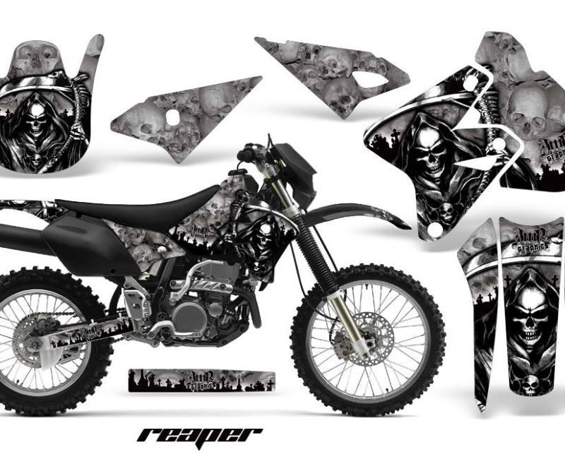 AMR Racing Dirt Bike Graphics Kit Decal Sticker Wrap For Suzuki DRZ400S 2000-2018áREAPER SILVER