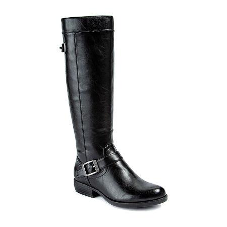 Yuu Womens Jaxette Riding Boots Stacked Heel, 6 Medium, Black